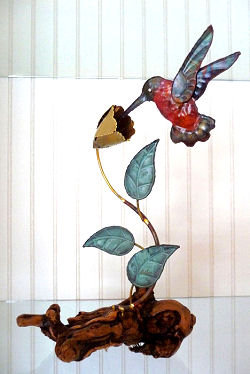 Hummingbird Sculpture