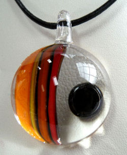 Art Glass Pendant by Victor Meyer of Sculptures in Glass
