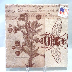 Art Tile with Bee