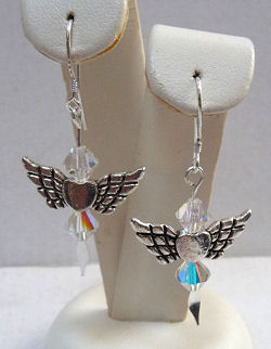 Swarovski Crystal Angel Heart Earrings