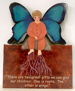 Butterfly Child with Quote from Hodding Carter, Jr.
