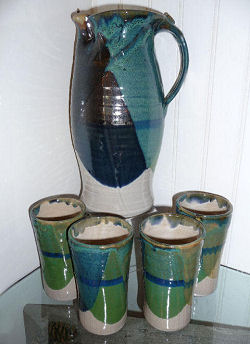 Pitcher and 6 Tumblers