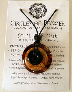 Circles of Power Magical Gemstone Talisman Necklace by Suzanne Michell