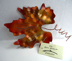 Burnished Copper Grape Leaf Table Decoration by Copper Leaf
