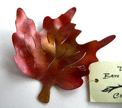 Burnished Copper Red Maple Leaf Table Decoration by Copper Leaf