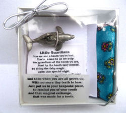 Girl on Dolphin Pewter Tooth Fairy Box