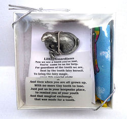 Cat and Fairy Pewter Tooth Fairy Box