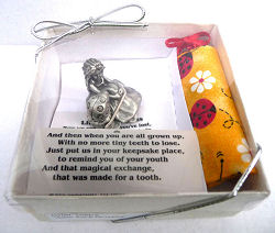Ladybug Pewter Tooth Fairy Box